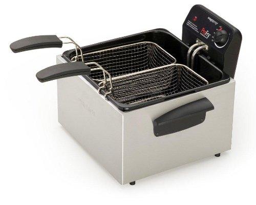 Presto 05466 Stainless Steel  Dual Basket Pro Fry Immersion Element Deep Fryer