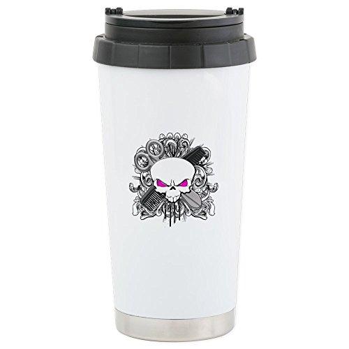 CafePress - Hairdresser Pirate Skull Stainless Steel Travel Mu - Stainless Steel Travel Mug Insulated 16 oz Coffee Tumbler