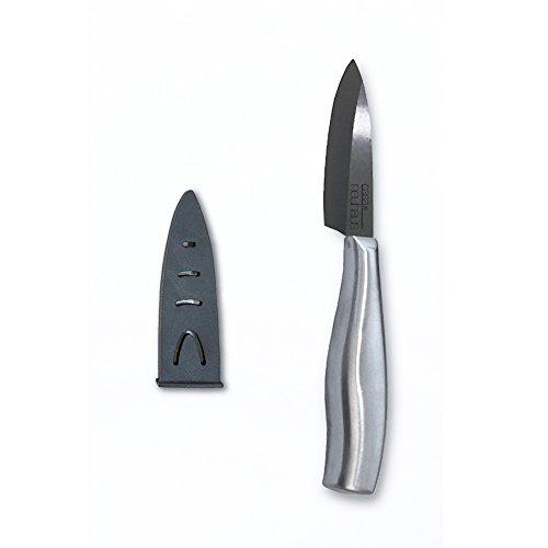 Casa Neuhaus Black Series Ceramic Knife - 3 inch Paring Knife - Black Ceramic Blade Stainless Steel Handle - Includes Knife Sheath and Black Series Gift Box