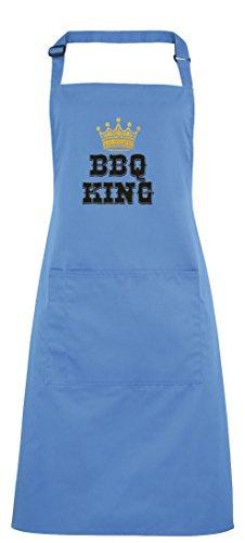 BBQ King Printed Apron - SapphireBlack