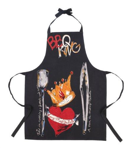 Julia Junkin BBQ King Adult Apron BlackRed