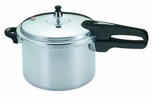 Mirro 92160a Polished Aluminum Pressure Cooker Cookware, 6-quart, Silver