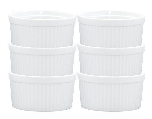 Hic 14-ounce Porcelain Souffle 4.5-inch Set Of 6