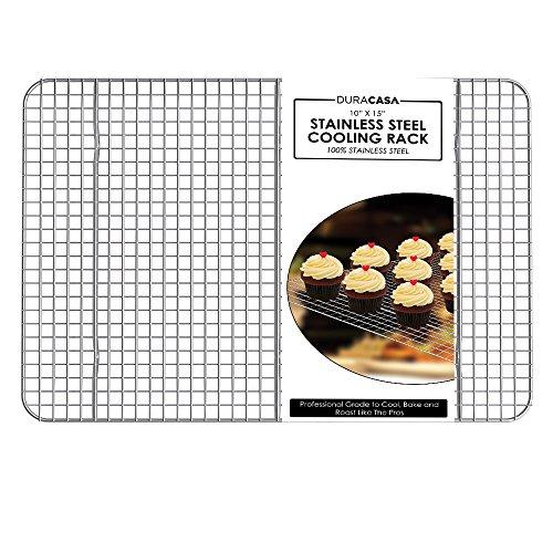 Baking Rack - Cooling Rack - Stainless Steel 304 Grade Roasting Rack - Heavy Duty Oven Safe, Commercial Quality
