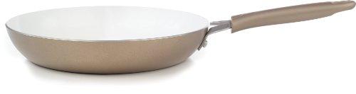 Wearever C94405 Pure Living Nonstick Ceramic Coating Saute Pan Fry Pan Cookware, 10.5-inch, Gold