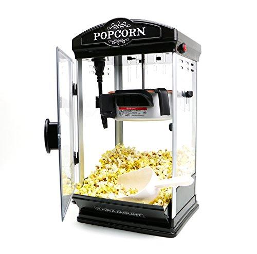 Popcorn Maker Machine by Paramount - New 8oz Capacity Hot-Oil Popper Color Black