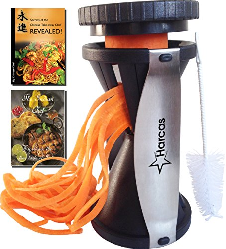 Premium Spiralizer Spiral Vegetable Slicer - Zucchini Pasta Noodle Maker - Complete Bundle - Cleaning Brush, The