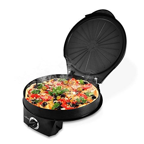 Nutrichef Pkpzm12 Pizza Maker Pizza Oven - Black
