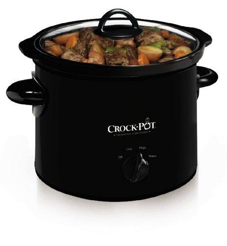 BanKhok Crock-Pot SCR300-B Manual Slow Cooker 3 Quart