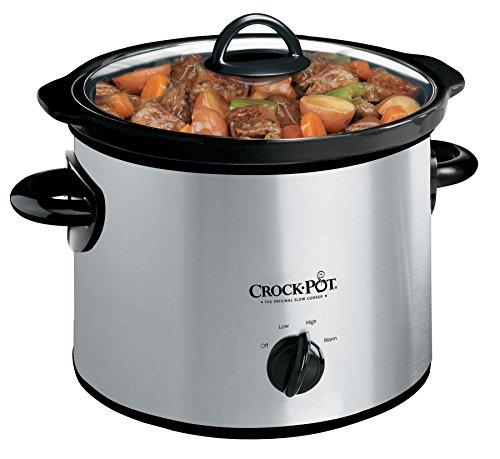 Crock-Pot SCR300-SS 3-Quart Manual Slow Cooker Silver