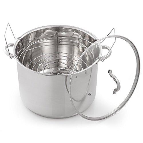 McSunley 620 Medium Stainless Steel Prep N Cook Water Bath Canner 215 quart Silver