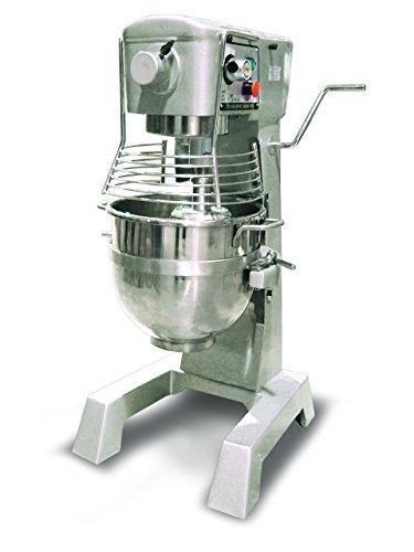 Omcan 20442 commercial 30qt GENERAL PURPOSE Mixer with Guard 3 attachments ETL