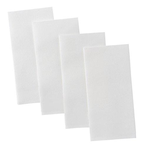 Bloomingoods Disposable Linen-Feel Guest Towels - Decorative White Hand Towels Floral Paper Napkins 100 Plain