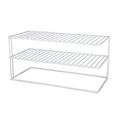 Grayline 40126 Large Two Shelf Organizer White