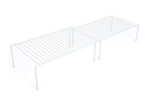 PRO-MART DAZZ Expandable Kitchen Storage Helper Shelf White