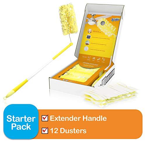 Swiffer Dusters Heavy Duty Extender Handle Starter Kit 1 Handle 12 Dusters