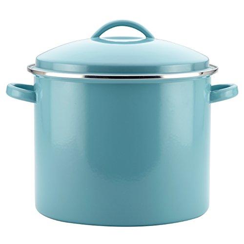 Farberware 46497 Enamel on Steel Stock PotStockpot with Lid - 16 Quart Blue
