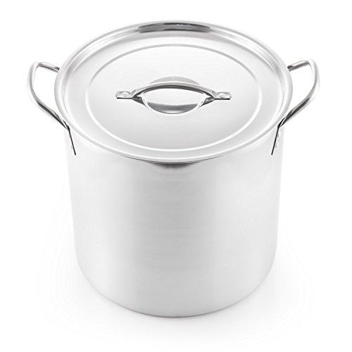 McSunley 609 Medium Stainless Steel Prep N Cook Stockpot 20 quart Metallic