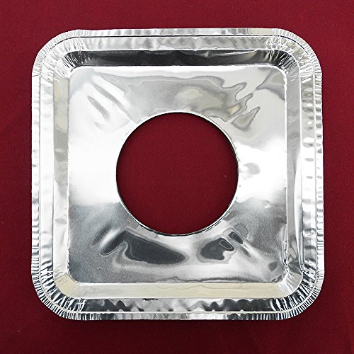 40 PC Aluminum Foil Square Gas Burner Disposable Heavy Thick Quality Bib Liners Covers 85 Square from Cavalier