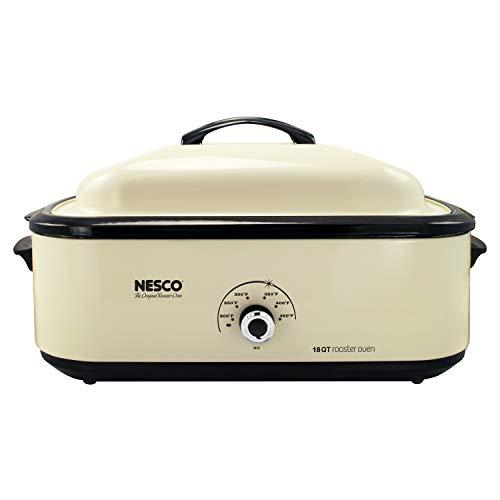 Nesco 4818-14 Classic Roaster Oven 18-Quart Porcelain Cookwell Ivory