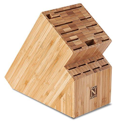 Cook N Home Bamboo Knife Storage Block 19 Slot