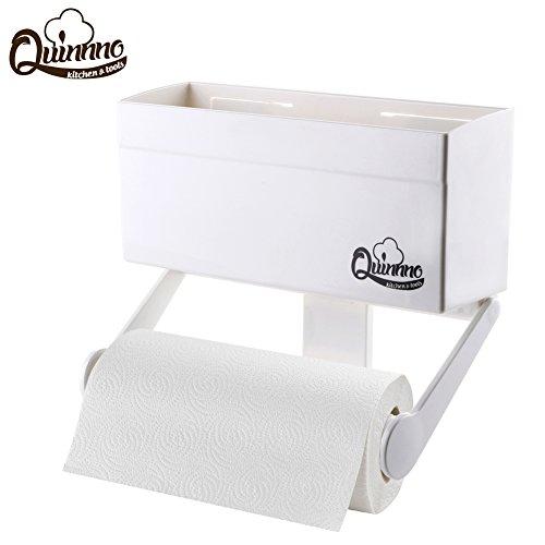 My Refrigerator Rack Magnetic Fridge Paper Towel Holder Rack Multi-use Organizer Rustproof ABS Resin 44lbs
