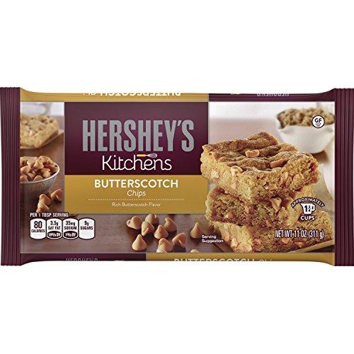 HERSHEYS Kitchens Baking Chips Butterscotch Chips Gluten Free 11 Ounce Bag Pack of 6