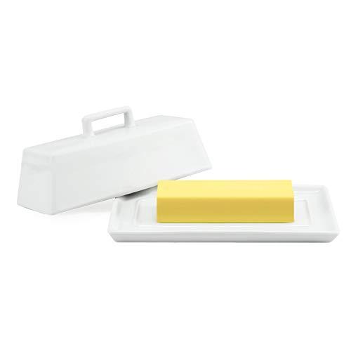 Connyam Ceramic Butter Dish with Handle Lid Dishwasher Safe