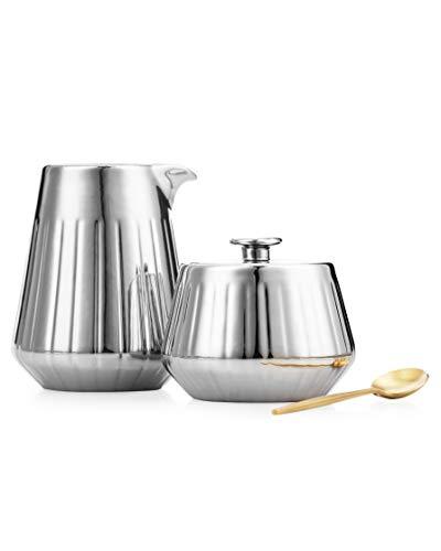 Cream Sugar Set with Lid Spoon Coffee Serving Set- 1217oz1420oz