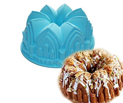 Large Crown Swirl Bundt Cake Pan Bread Chocolate Bakeware Silicone Mold