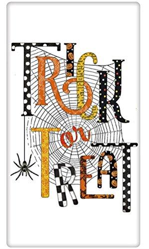 Halloween Trick Or Treat Spider Web 100 Cotton Flour Sack Dish Tea Towel - Mary Lake Thompson 30 x 30