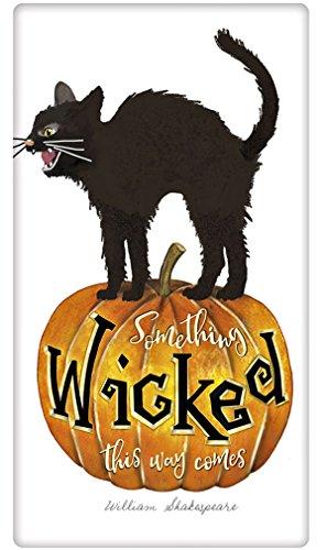 Wicked Black Cat Halloween 100 Cotton Flour Sack Dish Tea Towel - Mary Lake Thompson 30 x 30