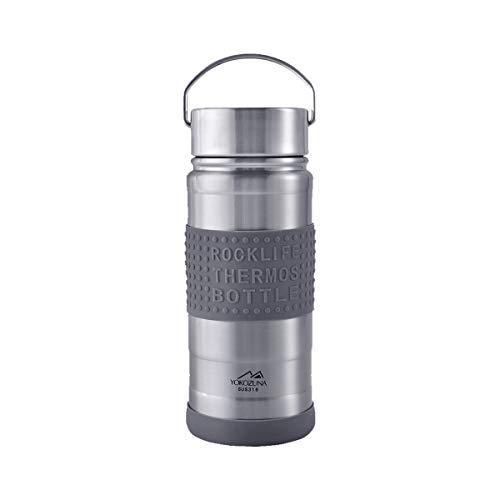 YOKOZUNA Vacuum Insulated Travel Mug Stainless Steel Water Bottle Leak Proof Thermal Cup Metal Handle for Sports 19oz  550ml