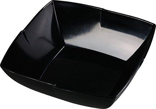 Carlisle 3331403 Rave Displayware Melamine Salad Bowl 45-qt Capacity 4 x 12 x 12 Black Case of 6