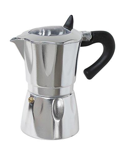 Cuisinox COFWD9 9 Cup Vista Aluminum espresso Coffee Maker SilverBlackClear