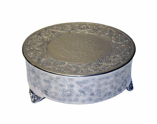 GiftBay Creations 743-16RAMA Wedding Round Cake Stand 16-Inch Silver
