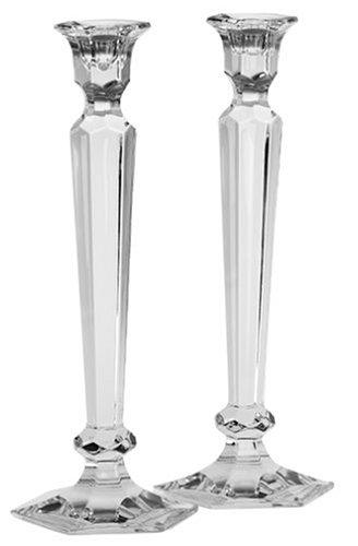 Reed Barton Crystal Summit 12-Inch Candlesticks Pair