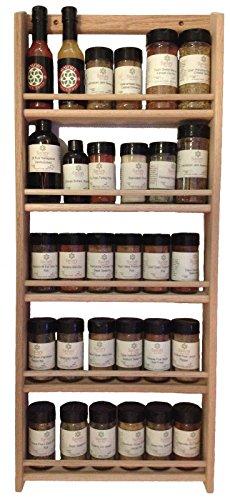 Solid OAK Wood Spice Rack  3275H x 1375 W  Wall Mount Wooden Spice Rack