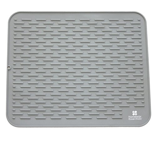 Silicone Dish Drying Mat  XXL 21 x 18  Large Drying Mat Use as Counter Mat Dish Draining Mat Sink Mat or Large Silicone Trivet