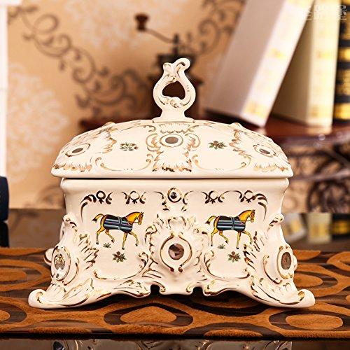 European ceramic candy dish creative ceramic dried fruit-box wedding bowls wedding gifts