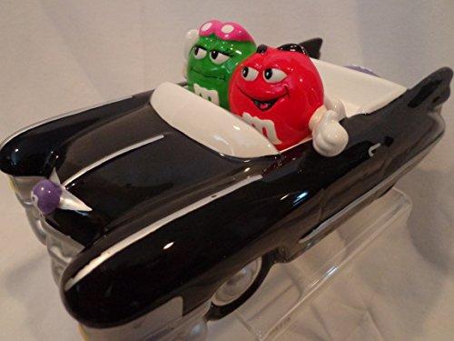 M&M m&m Hot Rod Cadillac Black Car Ceramic Candy Dish