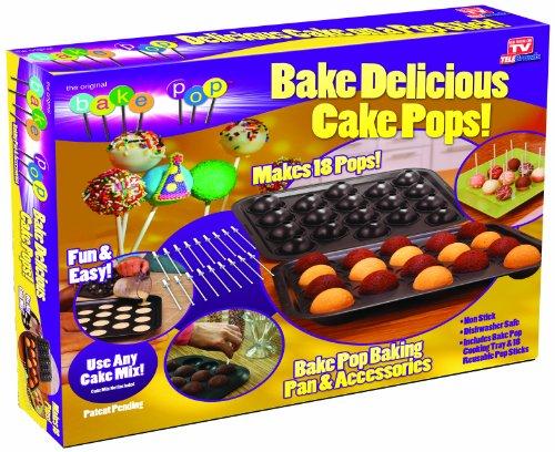 Telebrands 5720-12 Bake Pop Cake Pops Baking Pan Accessories