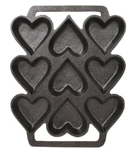 Cast Iron Heart Shaped Cake Pan - 9 X 7.5 Inch