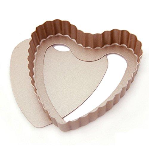 Uxcell® Casa-j Bakeware Novelty Heart Shape Cake Pans 4 Inch Stainless Steel