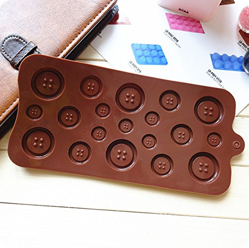 Blovess Silicone Button Chocolate Jelly Ice Muffin Sweet Candy Sugar Craft Fondant Mold Mould/ Tray Cake Decorating