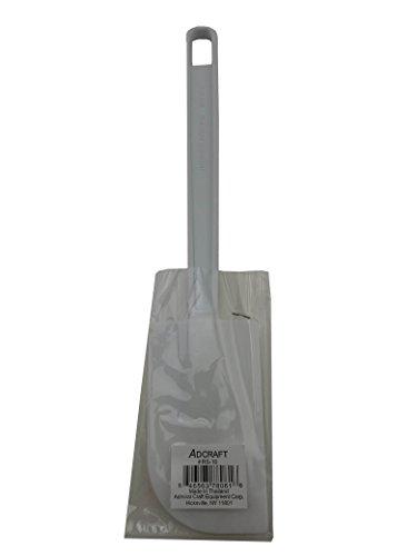 Adcraft 10 inch Plastic White Spatula