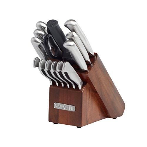 Sabatier 15-piece Stainless Steel Hollow Handle Knife Block Set
