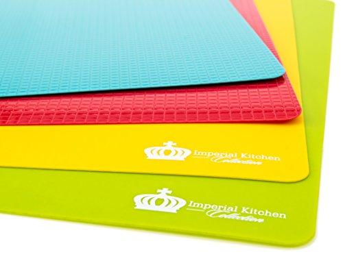 #1 Best Cutting Mat Set. Colorful Kitchen Cutting Board Set, Super Easy Clean Modern Cutting Boards, Nice Flexible