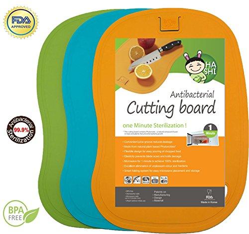 Antibacterial Cutting Board Set - 100% 1 Minute Microwave Antibacterial Sterilization - Flexible & Dishwasher