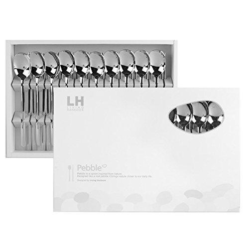 Premium Korean Stainless Steel Chopsticks And Spoon Set - Pebble (10 Sets)